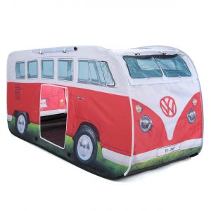 OL0180 VW camper van kids pop up play tent titan red 2