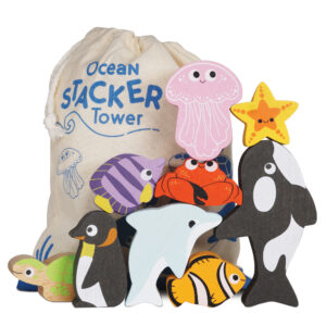 PL139 ocean stacker fsc sustainable wooden and cotton toy