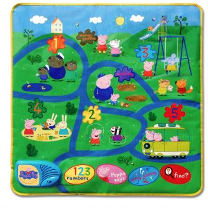 Pp15 Peppa Interactive Playmat Product Overhead View