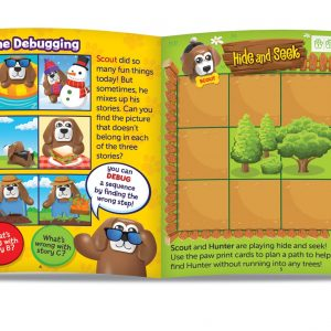 3090 Coding Critters Pair a Pets Book Spread web