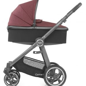Oyster3 Carrycot Onchassis Citygrey Berry